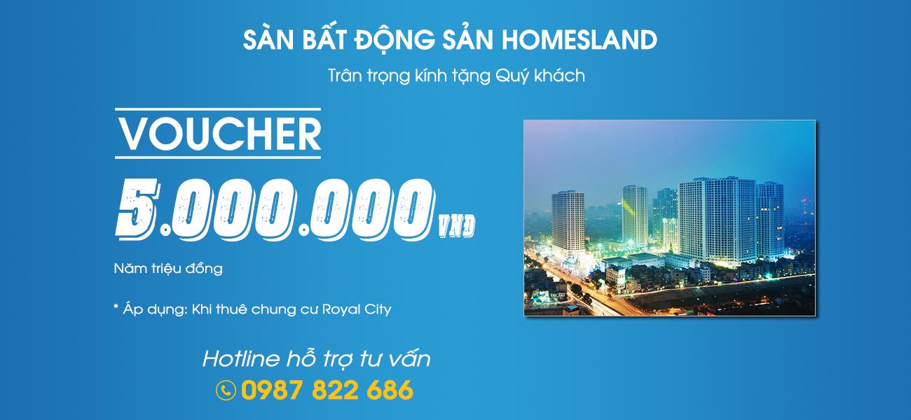 HOMESLAND dành tặng Voucher 5.000.000đ cho khách hàng !